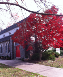 Church Building in Autumn
